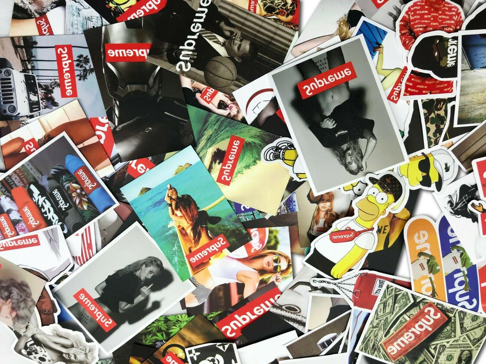 100 Supreme Skateboard Stickers for