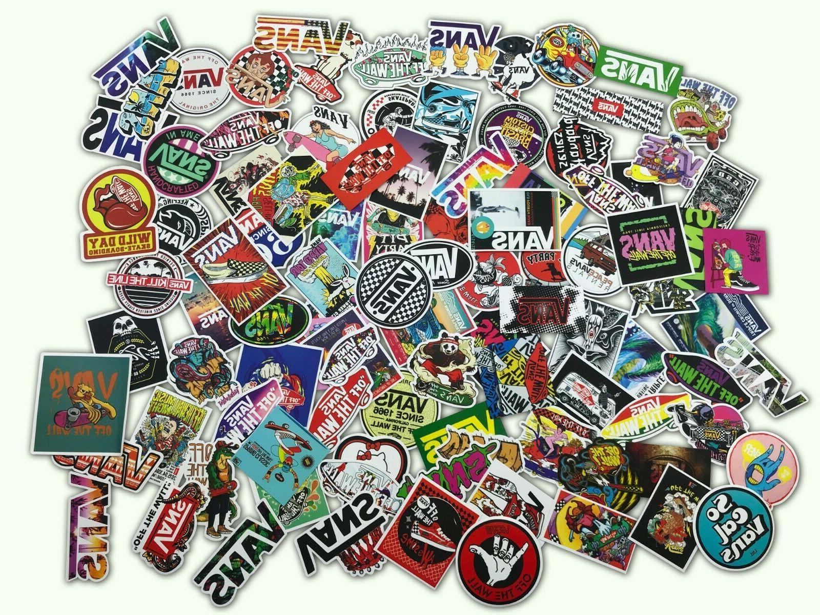 100 VANS OFF Sticker Laptop Lot