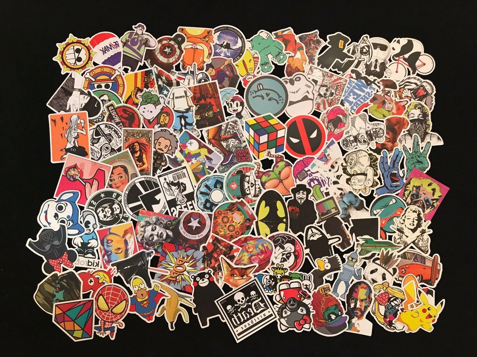 100 Bomb Laptop Decals Sticker Lot
