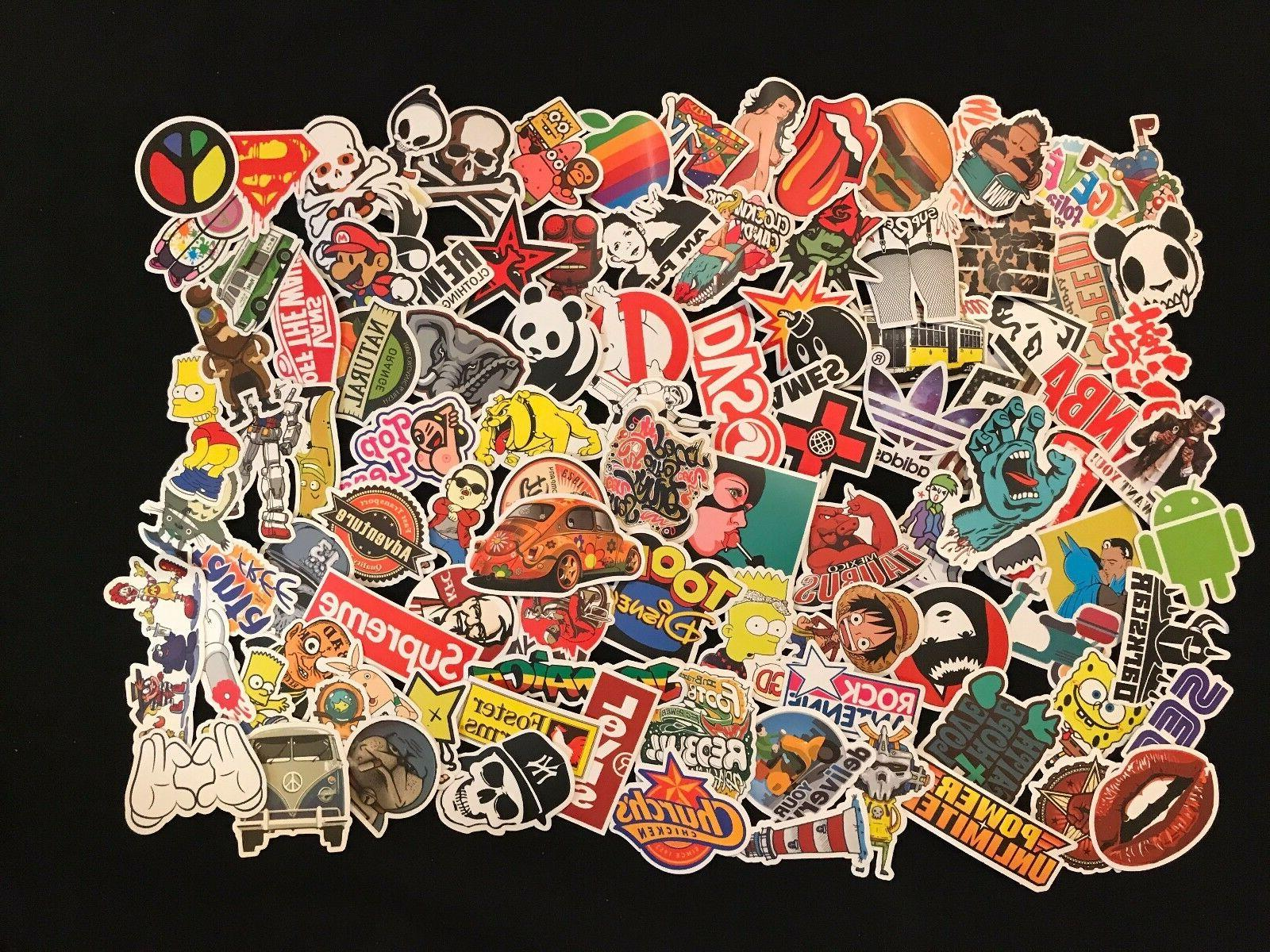 100 Skateboard Bomb Laptop Decals Dope
