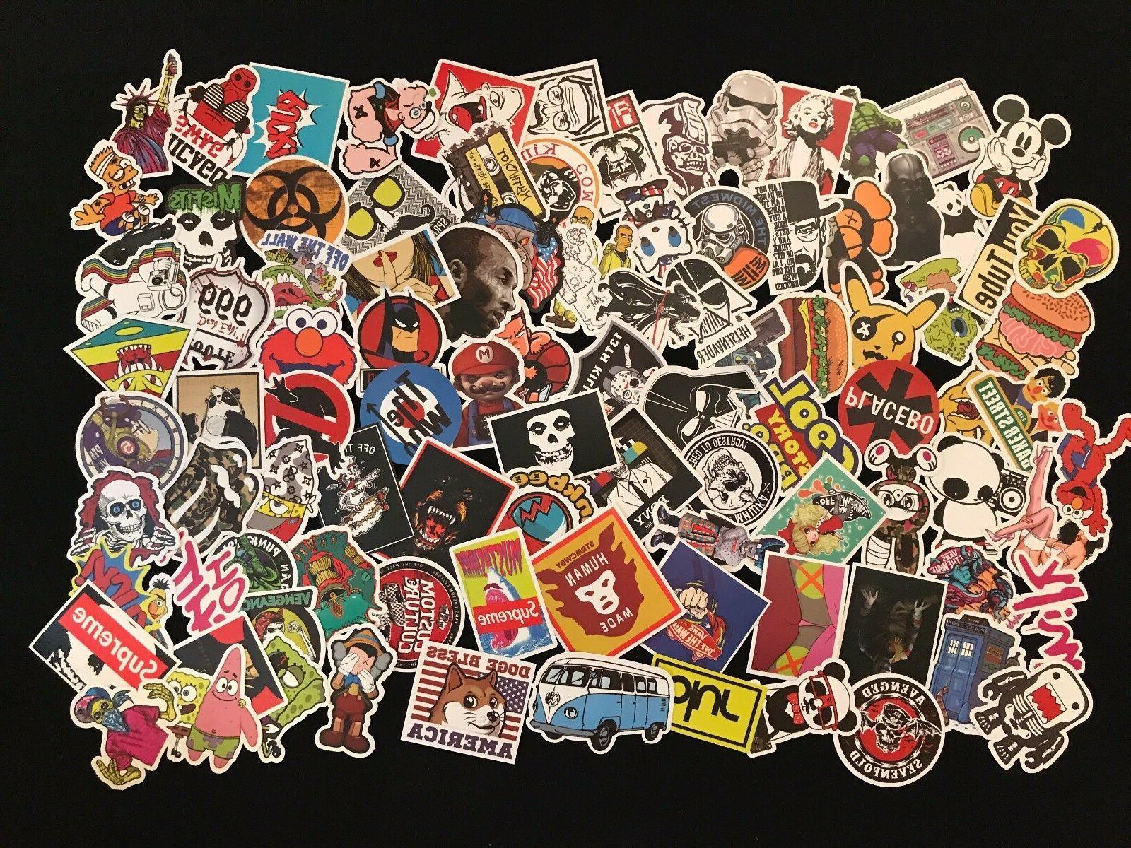 100 Random Bomb Decals Dope Sticker Lot