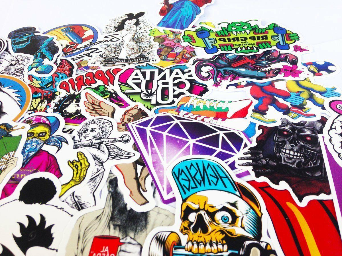 100 Skateboard Stickers Vinyl Laptop Luggage Dope Lot cool