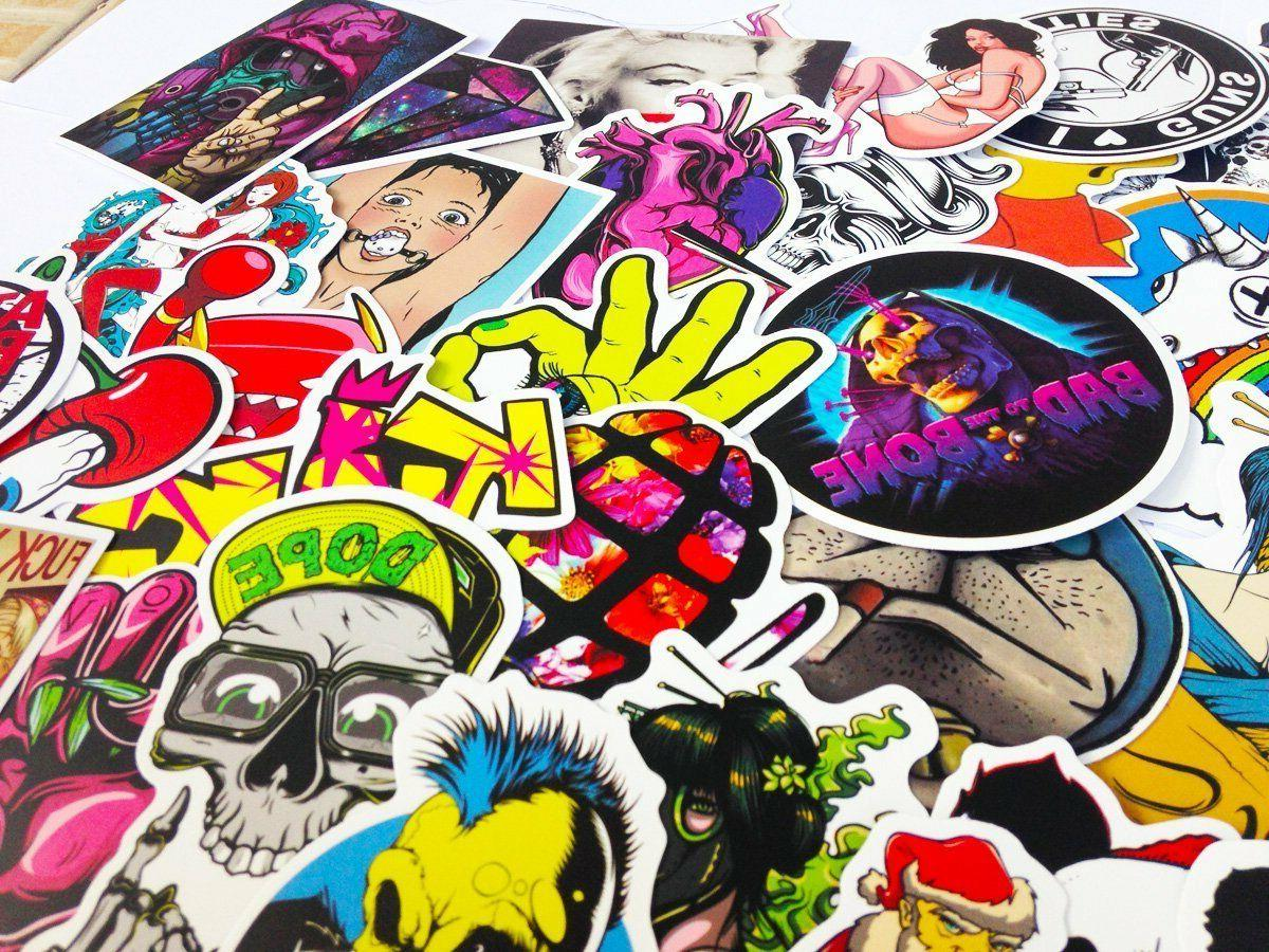 100 Stickers Vinyl Dope Lot