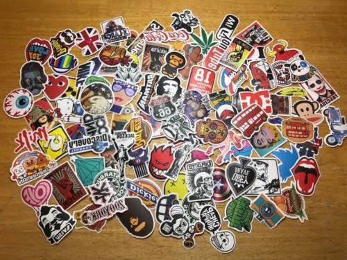 100 skateboard stickers bomb vinyl laptop luggage