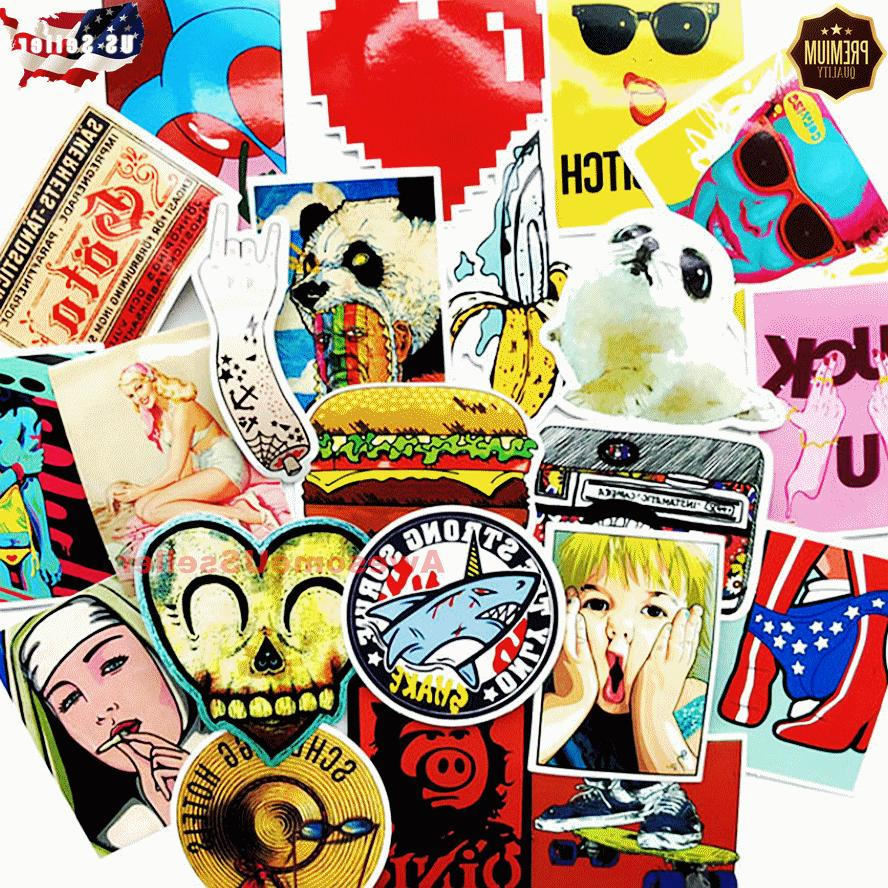 100 skateboard stickers color vinyl laptop luggage