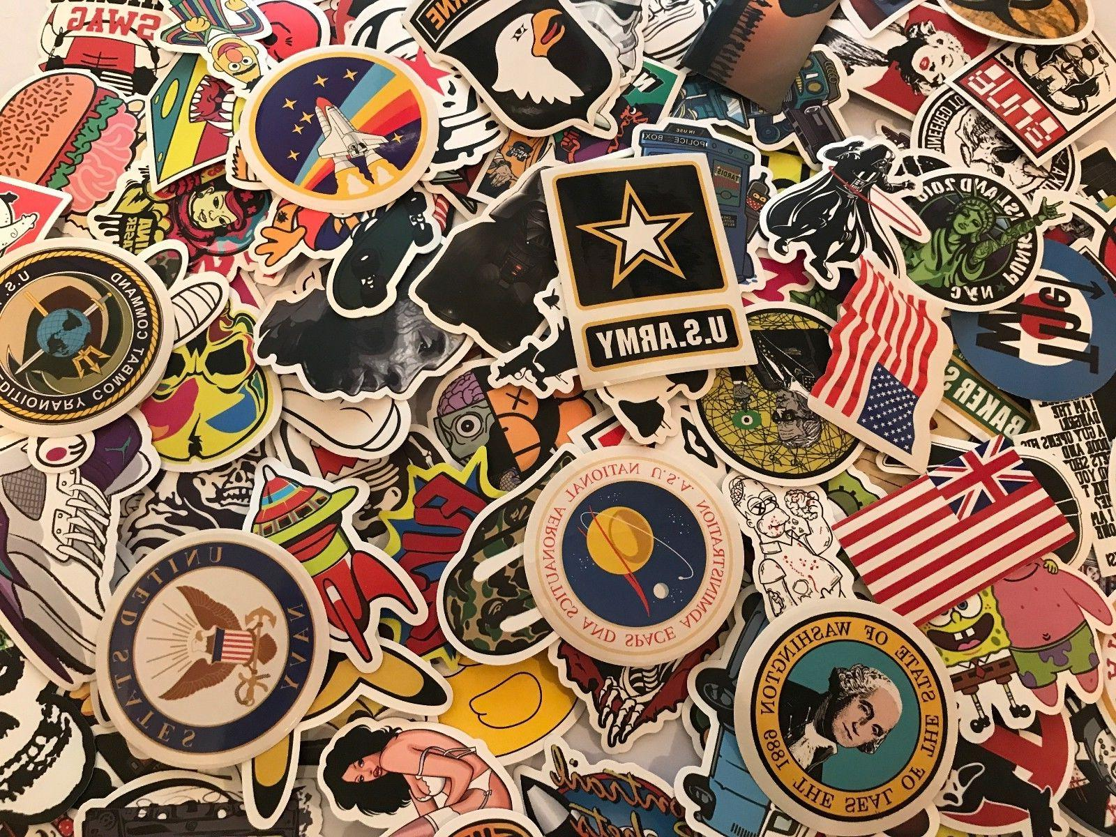 200 Skateboard Stickers US ARMY Vinyl Laptop Luggage Decals