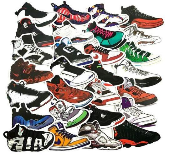 100 Sticker Lot Shoes Luggage Skateboard