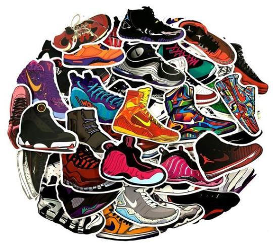 100 sticker lot nike shoes supreme luggage