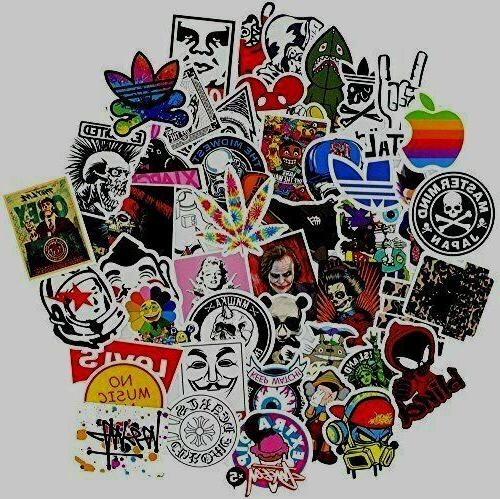 100 Sticker for skateboard, bape