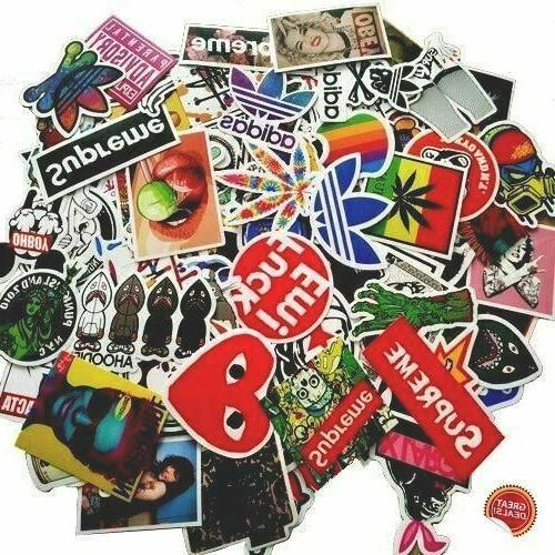 100 pcs hypebeast sticker pack for skateboard