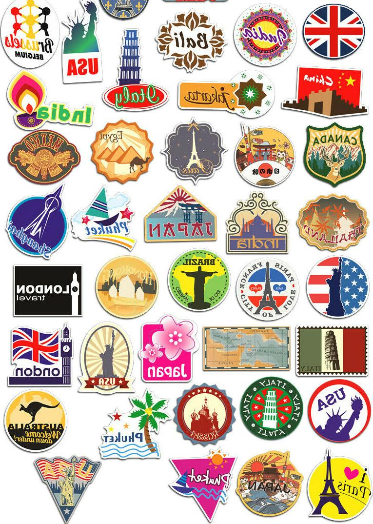 100 Travel bomb Vinyl Laptop Luggage Decals Dope Sticker