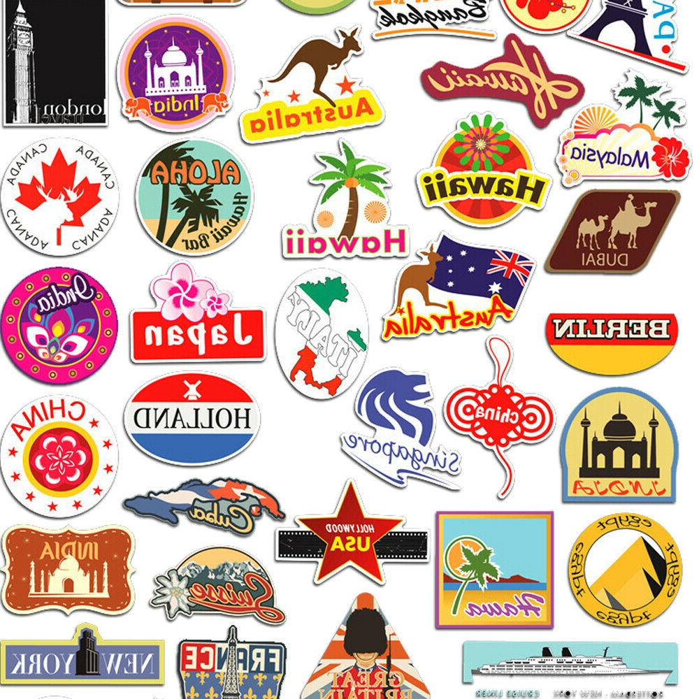 100 Stickers bomb Vinyl Luggage Decals