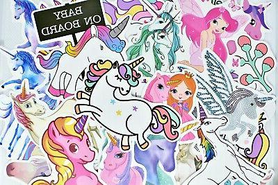 100 Unicorn Waterproof Stickers for Hydro Flask