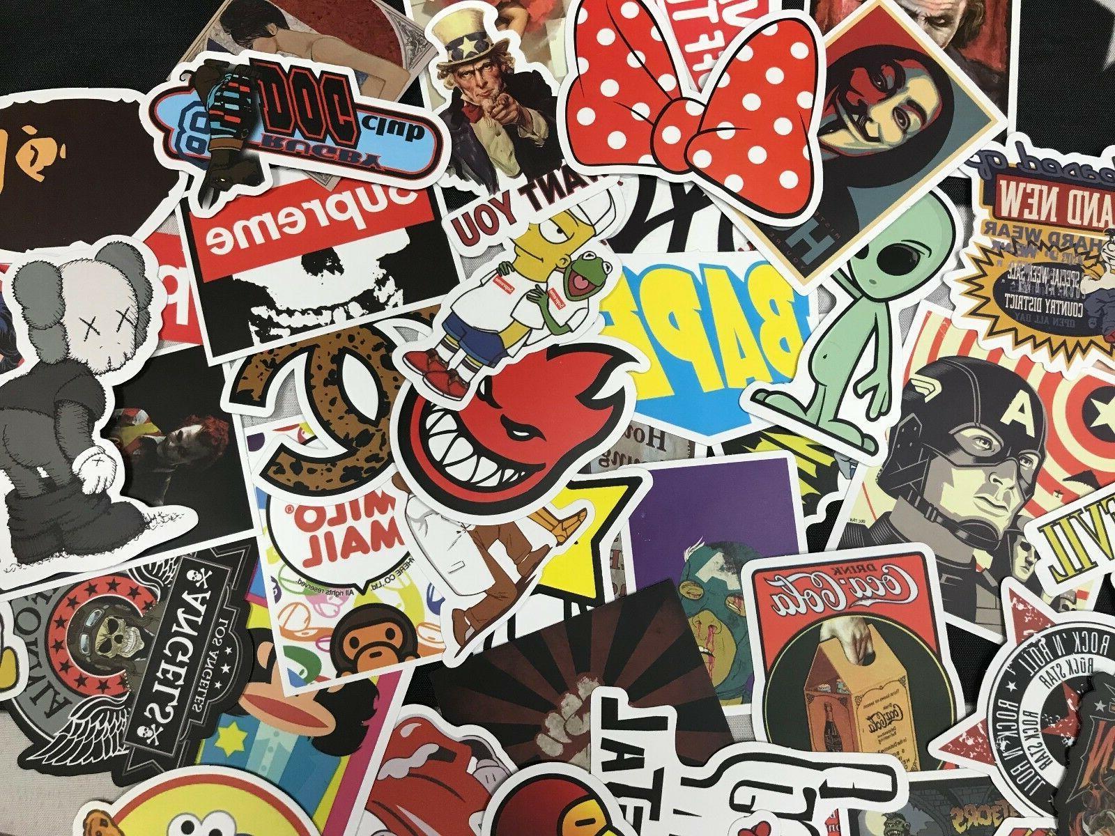 Lot 100 Random Laptop Stickers bomb Luggage