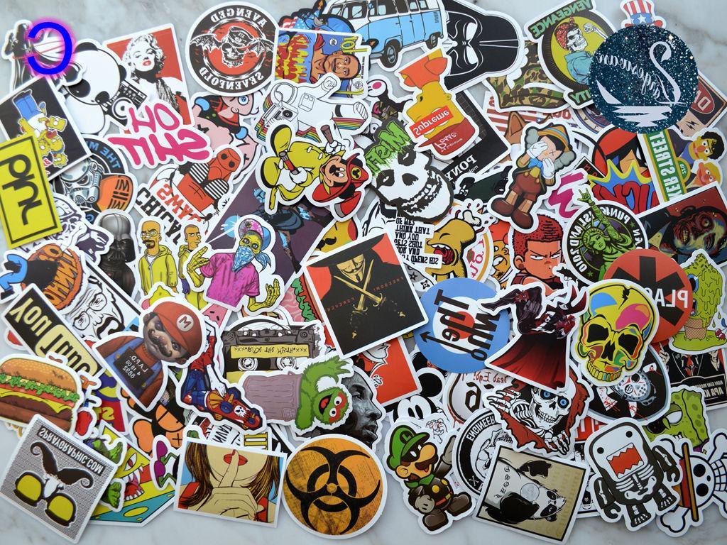 100pcs Graffiti bomb Decals Dope Laptop Sticker