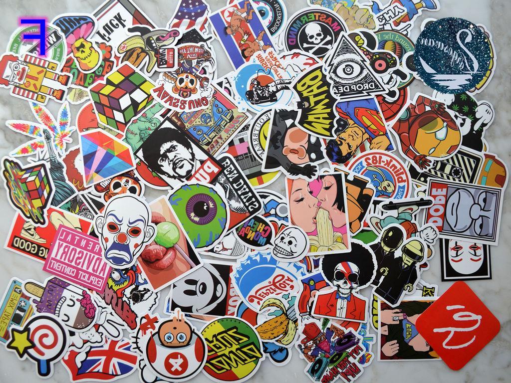 100pcs Graffiti Vinyl Decals Dope Laptop