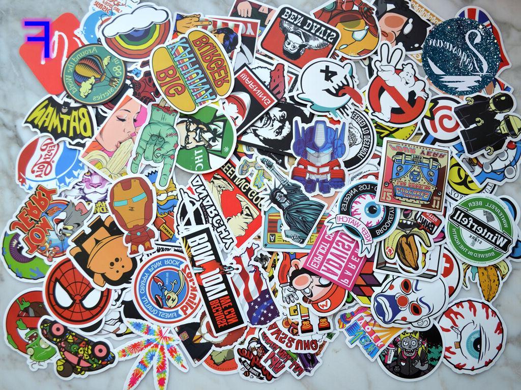 100pcs graffiti bomb vinyl decals dope car