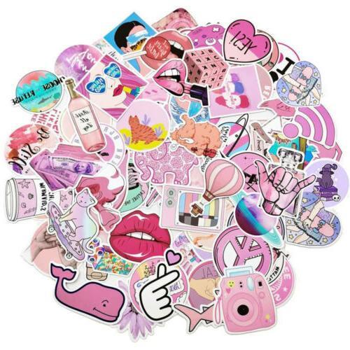100Pcs Pink Bomb Decal Lot