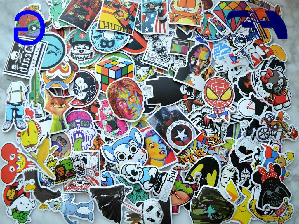 100pcs Skateboard Luggage Graffiti bomb Dope Car