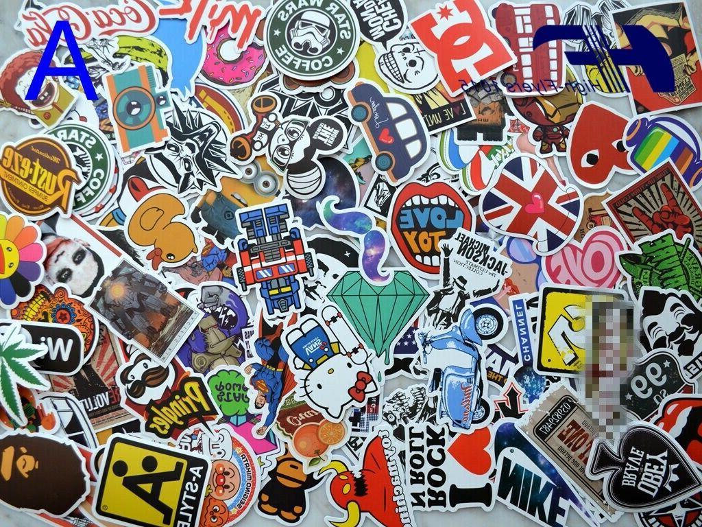 100pcs skateboard laptop luggage graffiti bomb vinyl