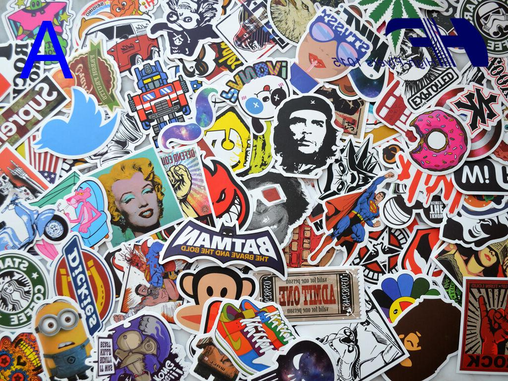 100pcs skateboard laptop luggage graffiti bomb vinyl