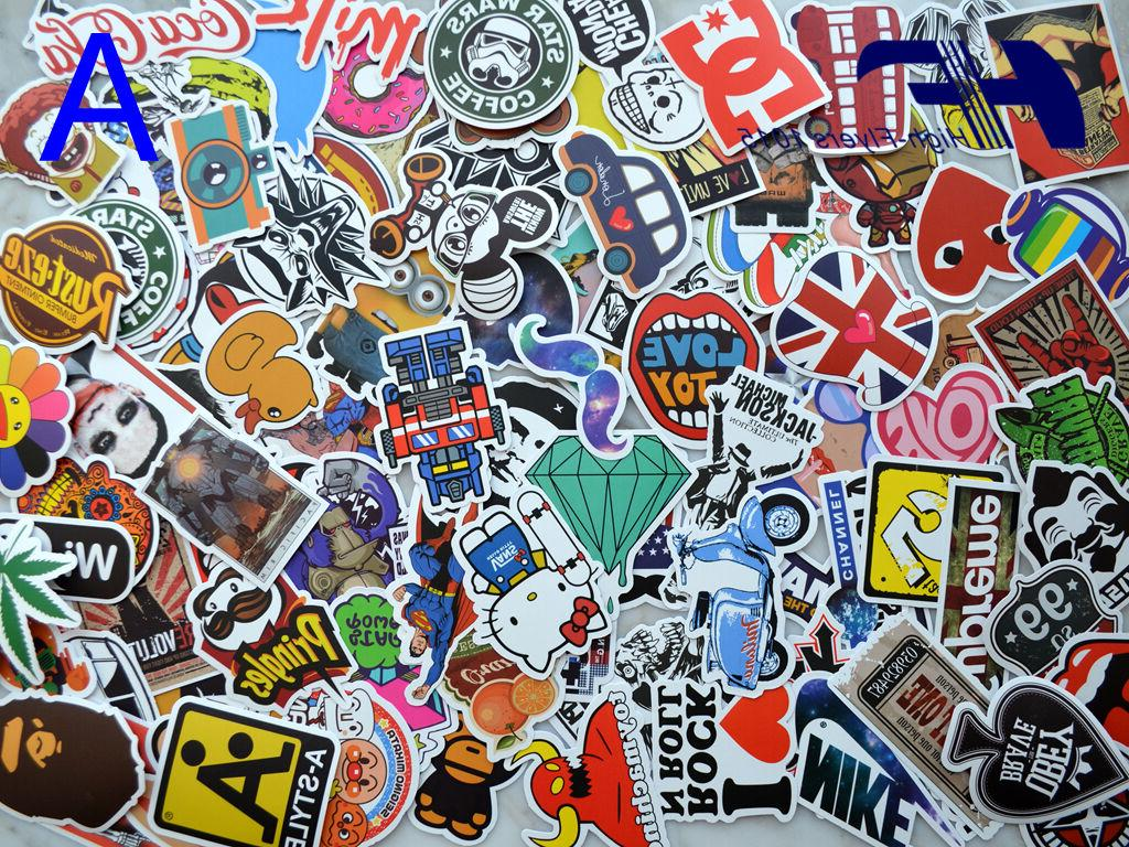 100pcs Skateboard Laptop Luggage Graffiti bomb Vinyl Decals