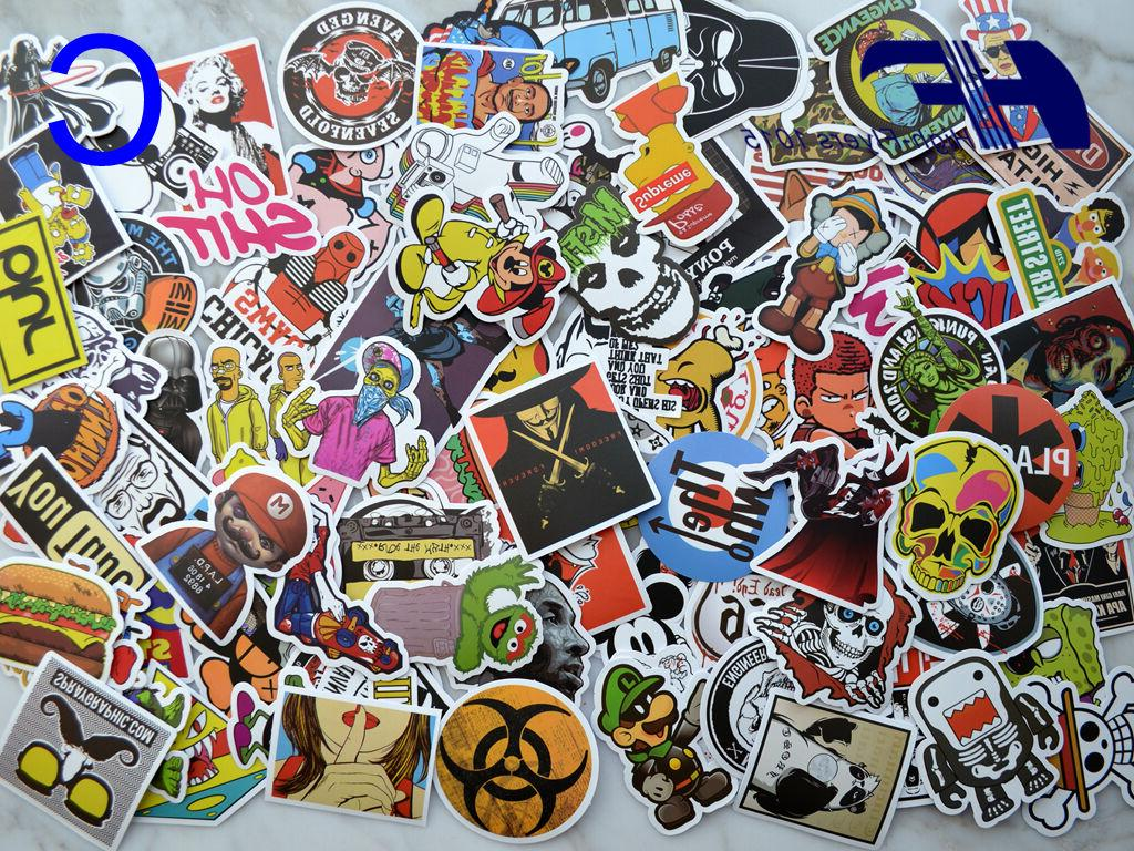 100pcs Laptop Luggage Graffiti bomb Dope
