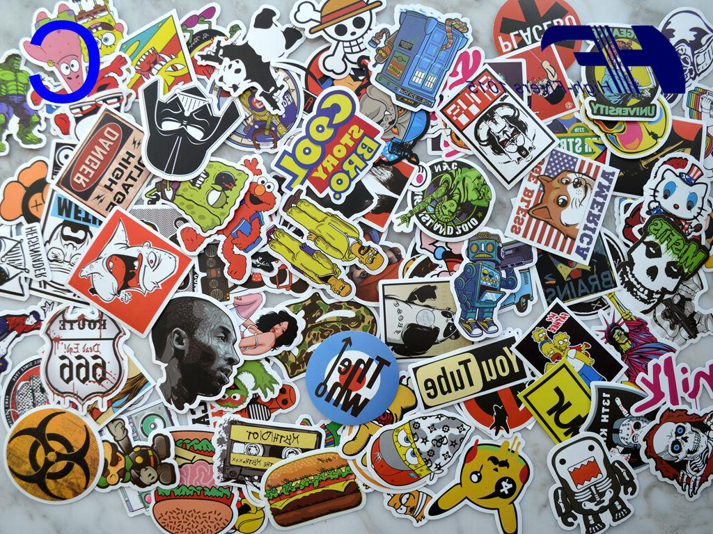 100pcs Laptop Luggage Graffiti bomb Dope Sticker Mix