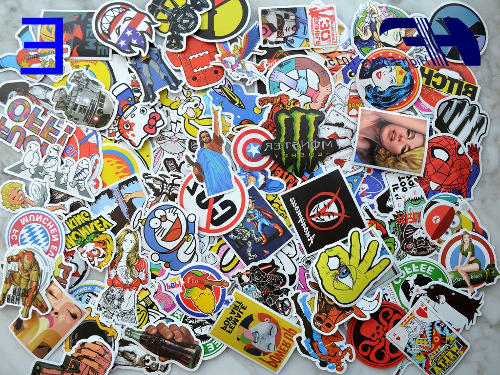 100pcs Skateboard Graffiti bomb Vinyl Decals Dope