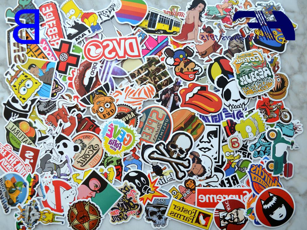 100pcs Skateboard Graffiti bomb Vinyl Dope Car Sticker Mix