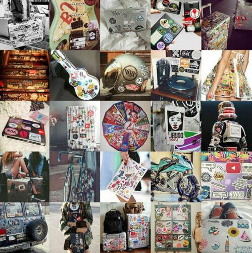 100 and White Skateboard Laptop Decal Lot Cool