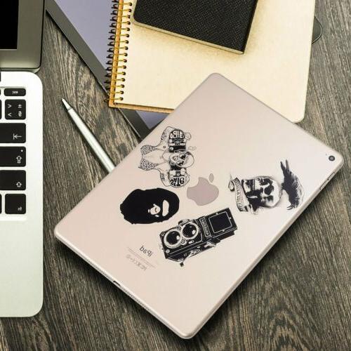 120 Black White Stickers Bomb Laptop Decals