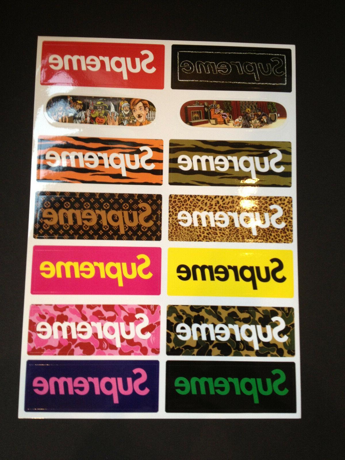 14 supreme skateboard longboard vintage vinyl sticker