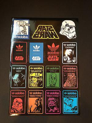 15 Adidas Star Wars Skateboard Longboard Vintage Vinyl Stick