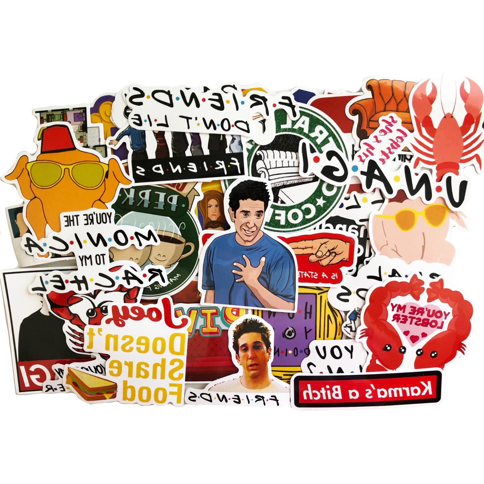 15 Friends Show Laptop Stickers - Joey Unagi Rachael