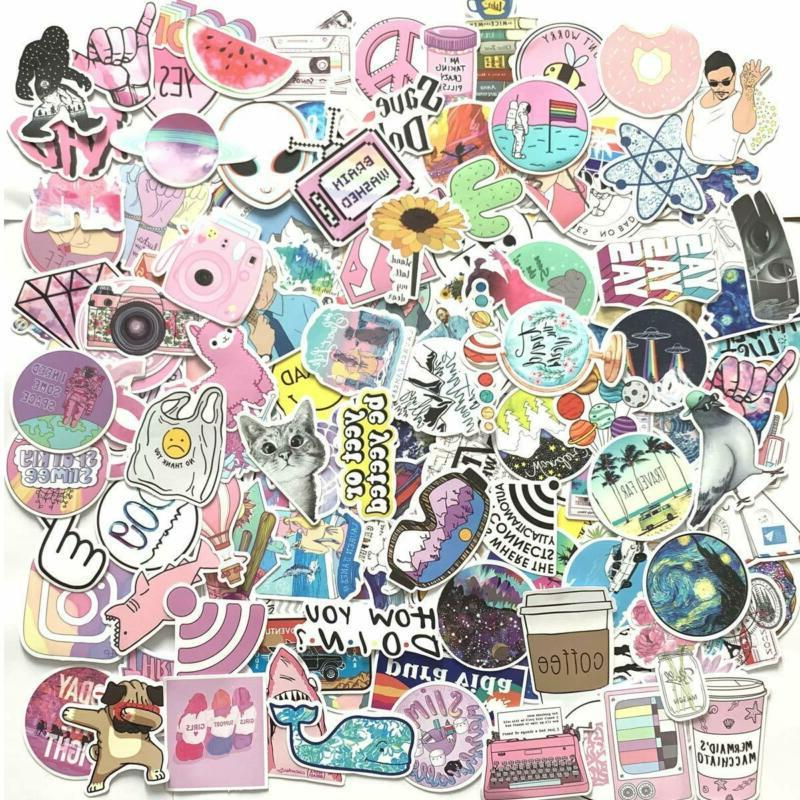 156 pcs cute stickers laptop and water
