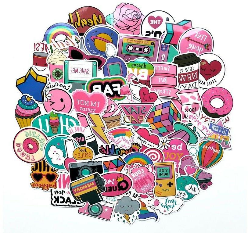 1980s 80s theme girly girl sticker bomb
