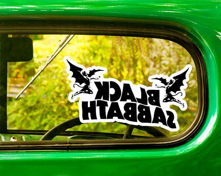 2 black sabbath decals sticker bogo