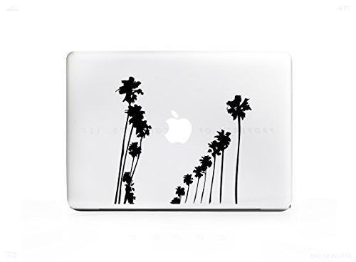 2 palm tree rows sticker