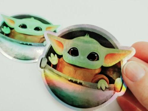 """2 Pk 3"""" Holographic for - Child Yoda"""