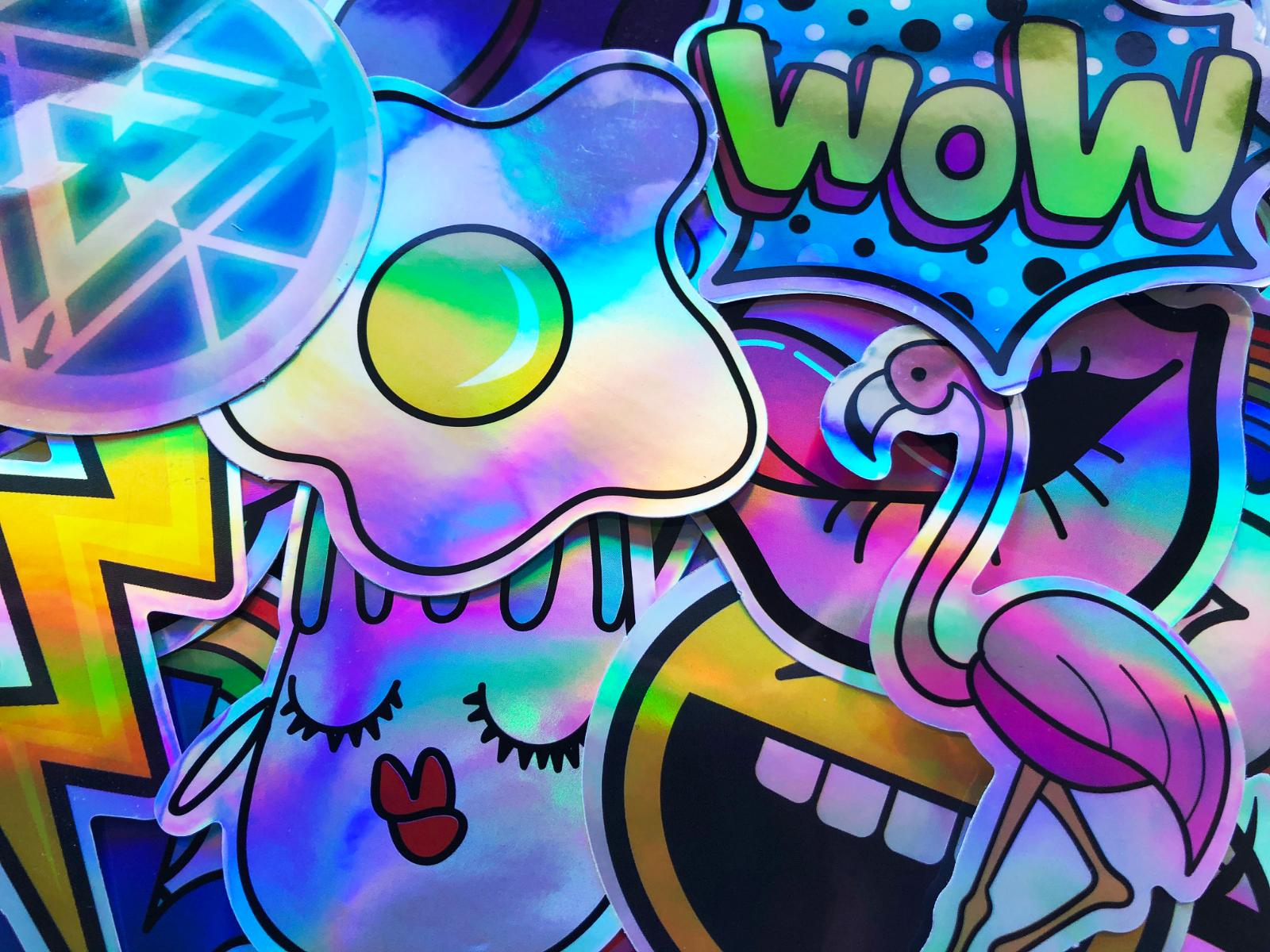 20 Holographic Reflective Graffiti Cool Stickers Decals #CS1