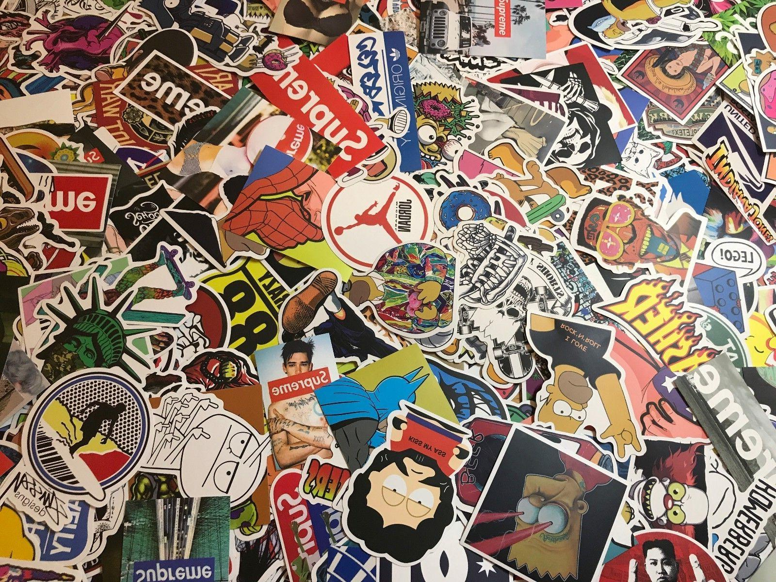 200 Vinyl Dope Sticker lot cool