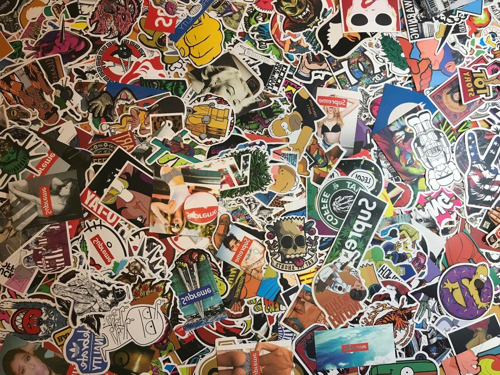 200 Stickers Vinyl Laptop Luggage Dope