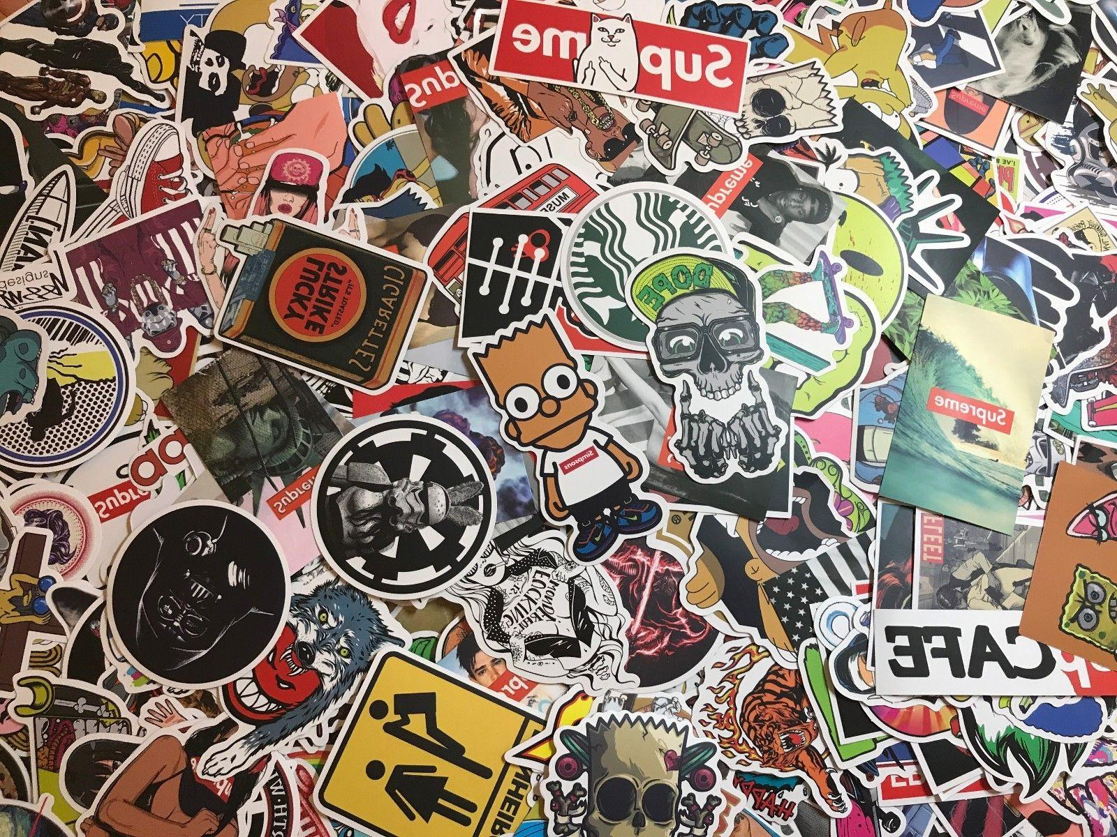 200 Skateboard Stickers Vinyl Laptop Dope lot cool