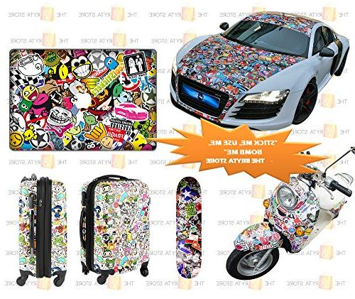 200 Vinyls | Pack The Selling Quality Sticker | Graffiti Your Luggage, Hard Hat | The Bryta