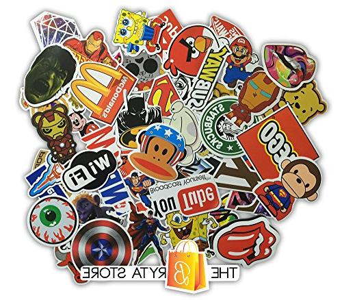 200 PREMIUM Decals Vinyls of The Best Selling Sticker | Graffiti Luggage, Hard | Bryta