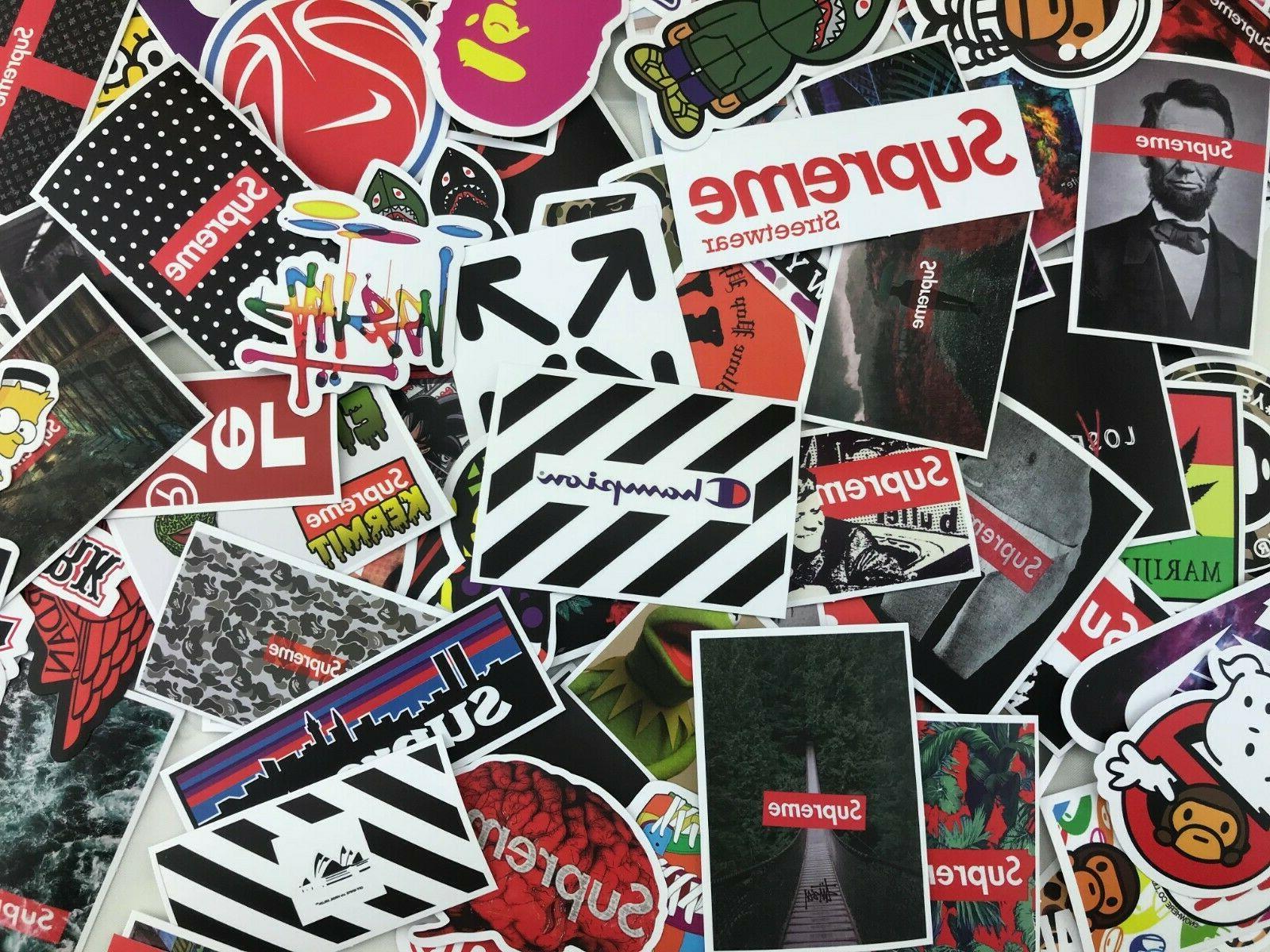 200 random stickers waterproof laptop luggage hyperbeast
