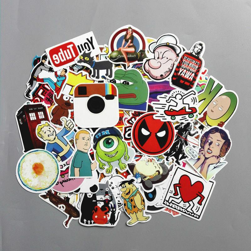 200 Skateboard Vinyl Laptop Luggage Decals Dope Cool
