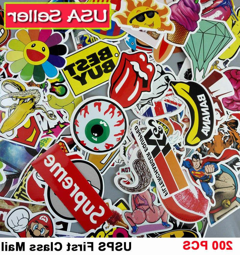 200 skateboard stickers bomb vinyl laptop luggage