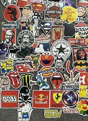 200 Skateboard Stickers Laptop Luggage Decal Dope Sticker Lot Longboard